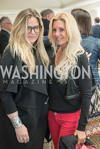 Christy Schlesinger, Victoria Michael,  WHCD Weekend, Thomson Reuters Brunch, Hay Adams, Apri 29, 2018. Photo by Ben Droz.