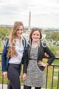 Kara Tabor, Renee Hickman,  WHCD Weekend, Thomson Reuters Brunch, Hay Adams, Apri 29, 2018. Photo by Ben Droz.