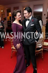 """Violeta Venera Gimadieva and Alfredo Joshua Guerrero. Photo by Tony Powell. WNO """"La Traviata"""" Opening Night. Kennedy Center. October 6, 2018"""