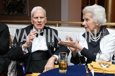"Librarian James Billington and Marjorie Billington. Photo by Tony Powell. WNO ""La Traviata"" Opening Night. Kennedy Center. October 6, 2018"