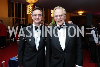 "Timothy O'Leary, Jan Lodal. Photo by Tony Powell. WNO ""La Traviata"" Opening Night. Kennedy Center. October 6, 2018"