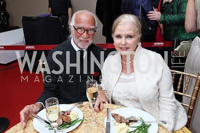 """AR and Judy Esfandiary. Photo by Tony Powell. WNO """"La Traviata"""" Opening Night. Kennedy Center. October 6, 2018"""