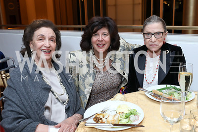 "Lucky Roosevelt, Francesca Zambello, Ruth Bader Ginsburg. Photo by Tony Powell. WNO ""La Traviata"" Opening Night. Kennedy Center. October 6, 2018"