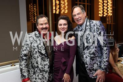 "Jose-Alberto Ucles, Violeta Venera Gimadieva, Tom Knoll. Photo by Tony Powell. WNO ""La Traviata"" Opening Night. Kennedy Center. October 6, 2018"