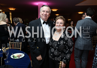 "Larry Franks and Opera Board Chair Ellen Berelson. Photo by Tony Powell. WNO ""La Traviata"" Opening Night. Kennedy Center. October 6, 2018"