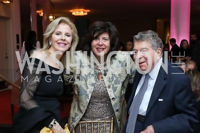 """Jane Cafritz, Francesca Zambello, Calvin Cafritz. Photo by Tony Powell. WNO """"La Traviata"""" Opening Night. Kennedy Center. October 6, 2018"""