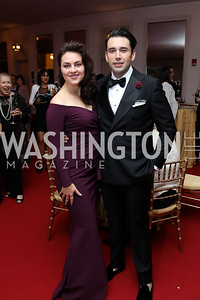 "Violeta Venera Gimadieva and Alfredo Joshua Guerrero. Photo by Tony Powell. WNO ""La Traviata"" Opening Night. Kennedy Center. October 6, 2018"