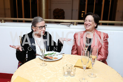 "Justices Ruth Bader Ginsburg and Elena Kagan. Photo by Tony Powell. WNO ""La Traviata"" Opening Night. Kennedy Center. October 6, 2018"