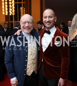 "Chip Kahn, Eric Larsen. Photo by Tony Powell. WNO ""La Traviata"" Opening Night. Kennedy Center. October 6, 2018"