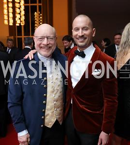 "Chip Kahn, Eric Larsen. Photo by Tony Powell. WNO ""La Traviata"" Opening Night. Kennedy Center. October 6, 2018"