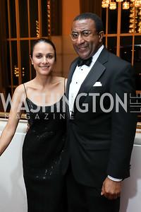 "Luisa Córdoba, Eric Motley. Photo by Tony Powell. WNO ""La Traviata"" Opening Night. Kennedy Center. October 6, 2018"