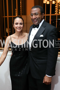"Luisa Córdoba, Eric Motley. Photo by Tony Powell. WNO ""La Traviata"" Opening Night. Kennedy Center. October 6, 2018"
