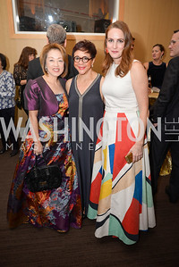 Sachiko Kuno, Sheila Johnson, Kate Goodall, The Washington Business Hall of Fame, at the National Building Museum, November 28, 2018.  Photo by Ben Droz.