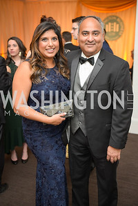 Prufesh Modera, Geazal Modhera,  The Washington Business Hall of Fame, at the National Building Museum, November 28, 2018.  Photo by Ben Droz.