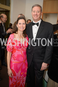 Tenley Carp, David Samuels,  The Washington Business Hall of Fame, at the National Building Museum, November 28, 2018.  Photo by Ben Droz.
