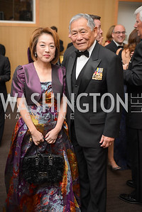 Dr. Sachiko Kuno, Frederick Pang, The Washington Business Hall of Fame, at the National Building Museum, November 28, 2018.  Photo by Ben Droz.