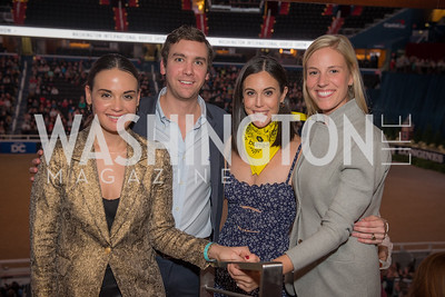 Nara de Sa, Austin Cagley, Candace Ourisman, Heather Theunissen,  Washington International Horse Show, Young Nelson Society, Capital One Arena, October 26, 2018.  Photo by Ben Droz.