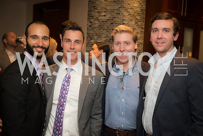 Shant Ayanian, Tim Shields, Daniel Julian, Austin Cagley, Washington International Horse Show, Young Nelson Society, Capital One Arena, October 26, 2018.  Photo by Ben Droz.