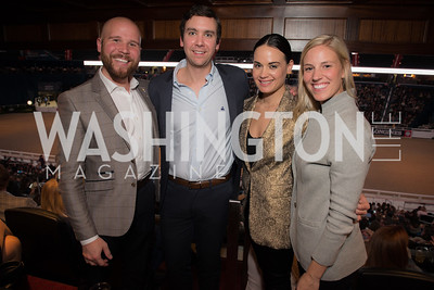 Paul Ashe, Austin Cagley, Nara de Sa, Heather Theunissen,  Washington International Horse Show, Young Nelson Society, Capital One Arena, October 26, 2018.  Photo by Ben Droz.