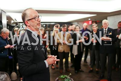 """Author Joe Rodota. Photo by Tony Powell. """"Watergate"""" Book Party. February 19, 2018"""