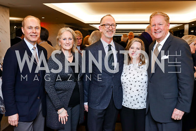 "John and Alma Paty, Joe Rodota, Katie and Alex Mathews. Photo by Tony Powell. ""Watergate"" Book Party. February 19, 2018"