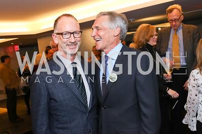 "Author Joe Rodota and Erik Taylor. Photo by Tony Powell. ""Watergate"" Book Party. February 19, 2018"