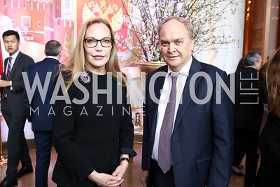 Susan Lehrman, Russia Amb. Anatoly Antonov. Photo by Tony Powell. Young Artists Opera Program. Russian Embassy. March 23, 2018