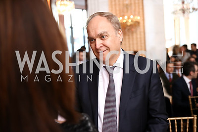Russia Amb. Anatoly Antonov. Photo by Tony Powell. Young Artists Opera Program. Russian Embassy. March 23, 2018