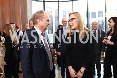 Russia Amb. Anatoly Antonov, Susan Lehrman. Photo by Tony Powell. Young Artists Opera Program. Russian Embassy. March 23, 2018