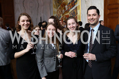 Katherine Kucharski, Kate Baughman, Rianna Jansen, Jesse Mitchell. Photo by Tony Powell. Young Artists Opera Program. Russian Embassy. March 23, 2018