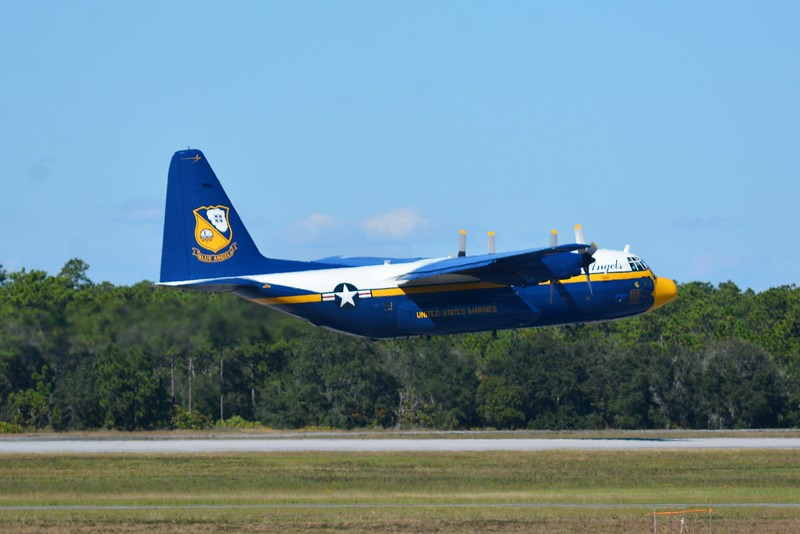 """And here is good old """"Fat Albert"""" which is part of the Navy Blue Angels Flight Demonstration Team.  This is a modified C-130 Hercules.  <br /> <br /> A Hell of a workhorse transport aircraft flown by almost all of our branches of the armed forces.  It even has a few civilian roles.  <br /> <br /> Versatility to a """"T"""""""