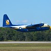 "And here is good old ""Fat Albert"" which is part of the Navy Blue Angels Flight Demonstration Team.  This is a modified C-130 Hercules.  <br /> <br /> A Hell of a workhorse transport aircraft flown by almost all of our branches of the armed forces.  It even has a few civilian roles.  <br /> <br /> Versatility to a ""T"""