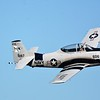 The T-28 Trojan - This is a trainer aircraft for the Navy.  It looks a lot like the A-1 Skyraider which was used during the Vietnam War in ground attack missions.