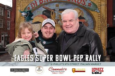 Eagles Super Bowl Pep Rally at Di Brunos Italian Market Philadelphia 2018