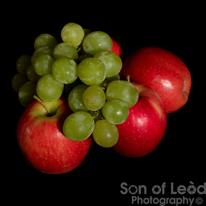 Red Delicious Apple and Green Grapes