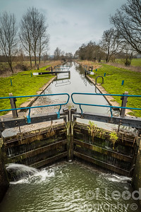 Lock Gates on the River Chelmer - Essex
