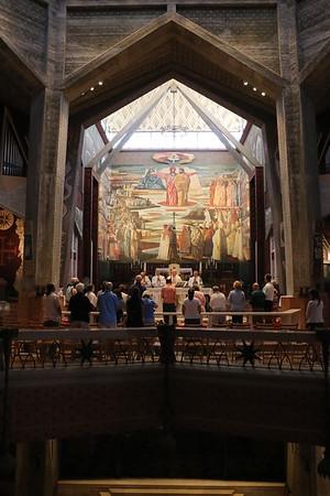 2018-06-22 Day 04 Holy Land Nazareth, Basilica Annunciation, St. Joseph Church, Mt Tabor