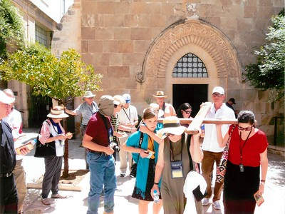 2018-06-27a Holy Land Day 09 - Via Dolorosa - Carrying the Cross