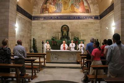2018-06-28 Holy Land Day 10 - Mass at Bethany Church, Masada, Dead Sea