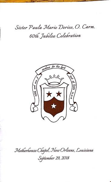 2018-09-29 Sr Paula 60th Jubilee