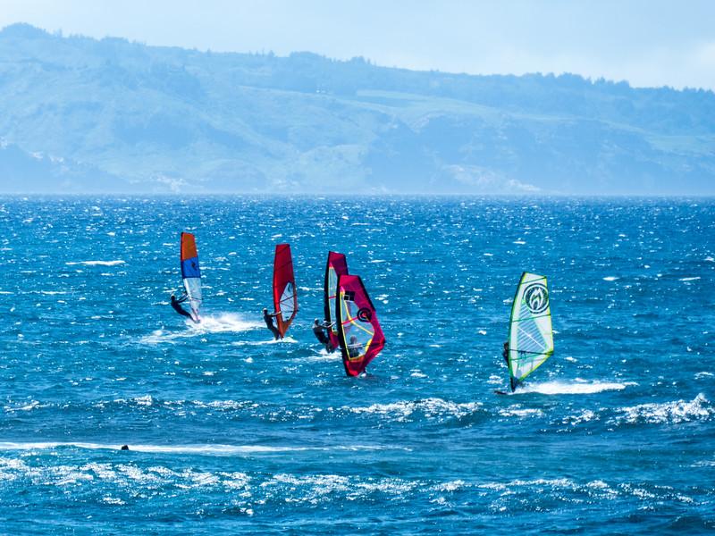 Windsurfing, Hookipa Beach, Maui, Hawaii