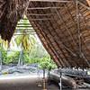 Halau wa'a or conoe house, Pu'uhonua O Honaunau NHP, Hawaii