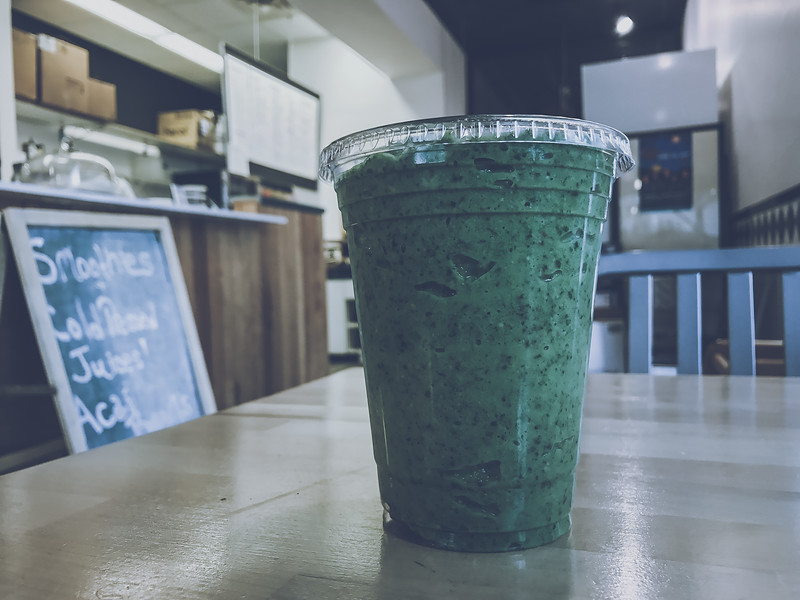 A Kale Yeah! smoothie from the Aracari Kitchen in Terre Haute, Indiana.