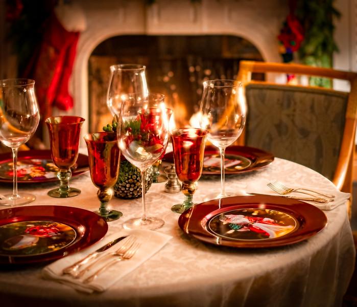 Christmas Eve - table set for company