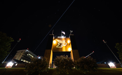 The International Space Station rises over Ross Ade Stadium on June 4, 2018.