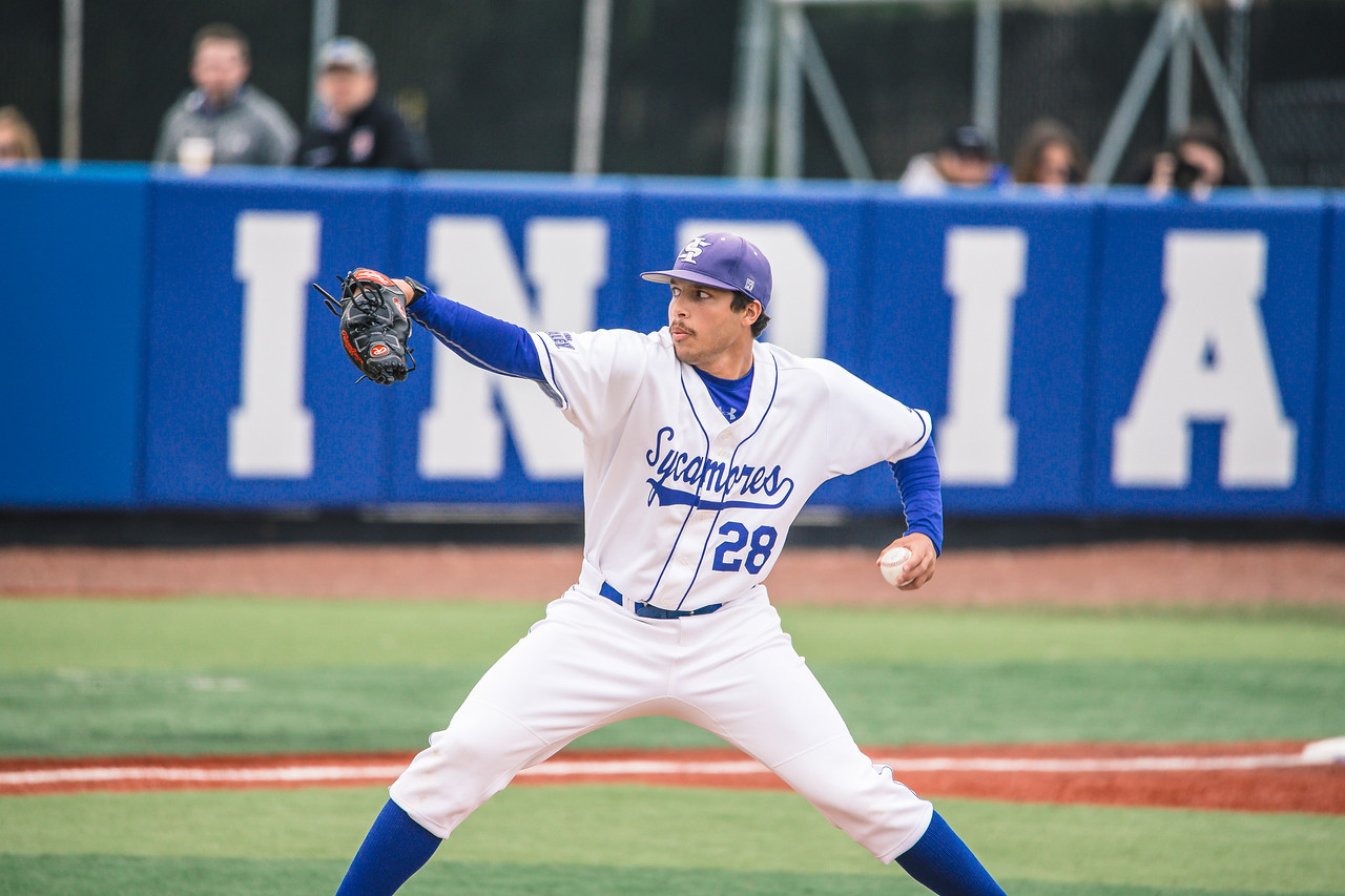 Indiana State baseball takes on Xavier at Bob Warn Field on March 23, 2018.