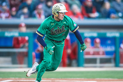 Notre Dame baseball and Indiana University play in the Victory Field Classic on April 15, 2018.