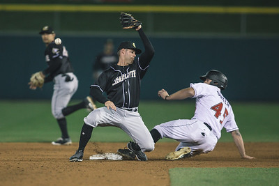 The Indianapolis Indians and Charlotte Knights play at Victory Field on  April 20, 2018.