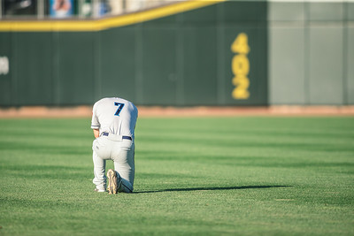 Tyler Friies of the  Lake County Captains takes a moment before a game at Fifth Third Field on May 23, 2018. (Dave Wegiel/MiLB.com)