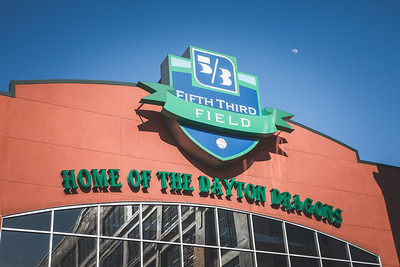 The Dayton Dragons and Lake County Captains play at Fifth Third Field on May 23, 2018.